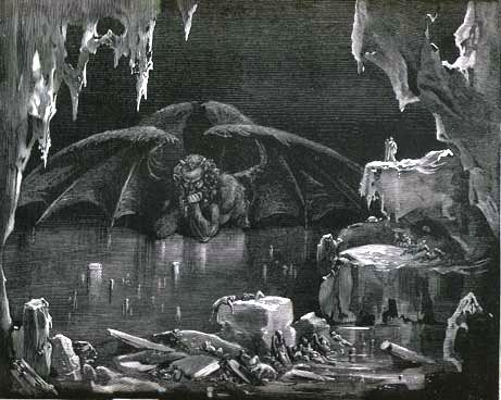 #Lucifer in the Hell by Gustave Doré, inspired by the Divine Comedy of #Dante Alighieri.