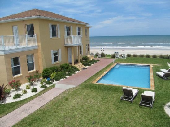 View Of Main House And Beach From Apartment Balcony Vacation - Daytona beach oceanfront house rentals
