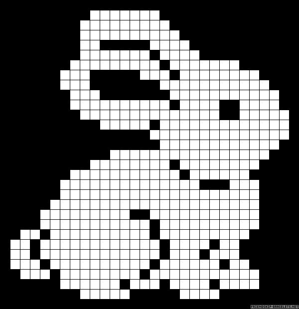 Rabbit perler bead pattern