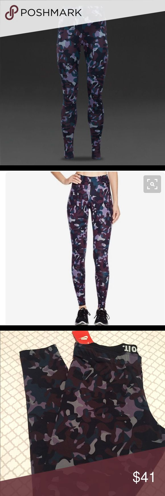 NET NIKE CAMO LEGGINGS New with tags NIKE CAMO LEGGINGS. All my items come from a pet/smoke free home. No trades or holds. Nike Pants Leggings