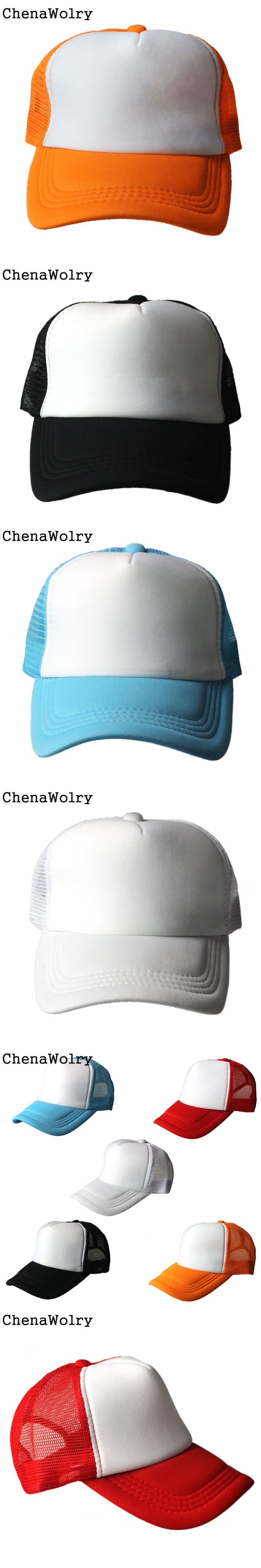 ChenaWolry 1PC 100% Brand New Fashion Accessories Mesh Baseball Cap Hat Blank Curved Visor Hat Adjustable Blank Color O 18
