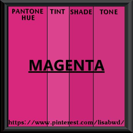 Pretty board today, thank you!  Let's do these Pantone tones of MAGENTA.  Please try and stay as close to them as you can.  Thank you!