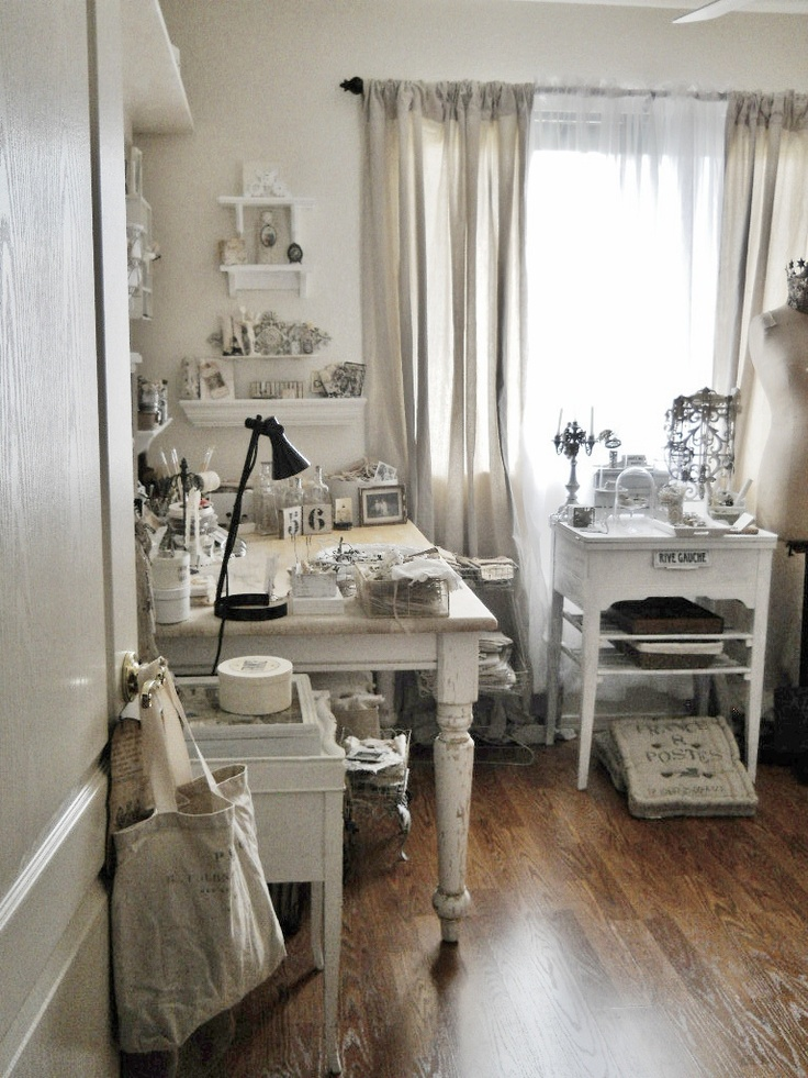 Best Craft Rooms Studios And Office Spaces Images On - Craft room home studio setup