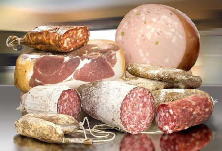 italian SALAME and PROSCIUTTO