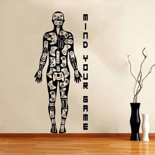 Wall Stickers Decal Video Games Gamer Body Xbox Playstation Wii! Room boy by DecalStyles on Etsy https://www.etsy.com/listing/198471412/wall-stickers-decal-video-games-gamer