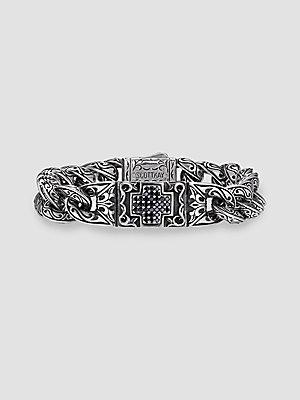 Scott Kay UnKaged Black Sapphire Cross Bracelet