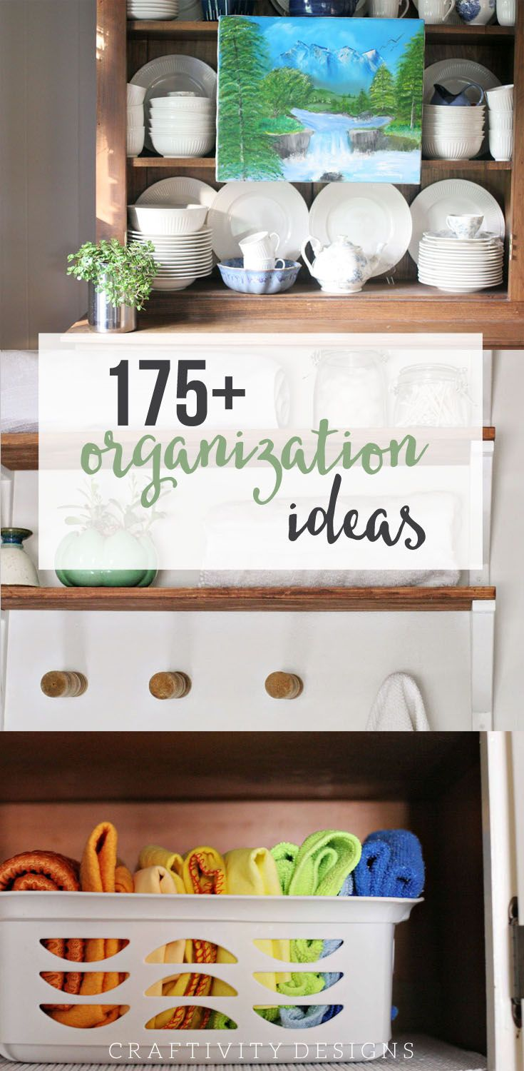175+ Organizing Solutions for the Home, Practical Organization Ideas and Simple Tips shared Room by Room. by @CraftivityD