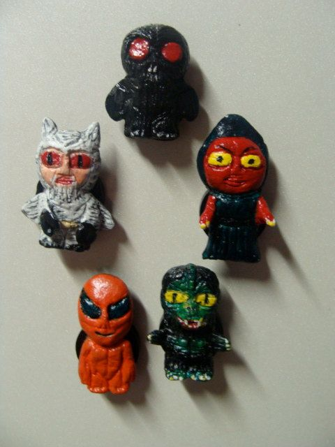 Cryptids That May Be Aliens Refrigerator Magnet set by YokaiJohn