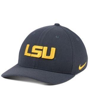 Nike Lsu Tigers Classic Swoosh Cap - Silver L/XL