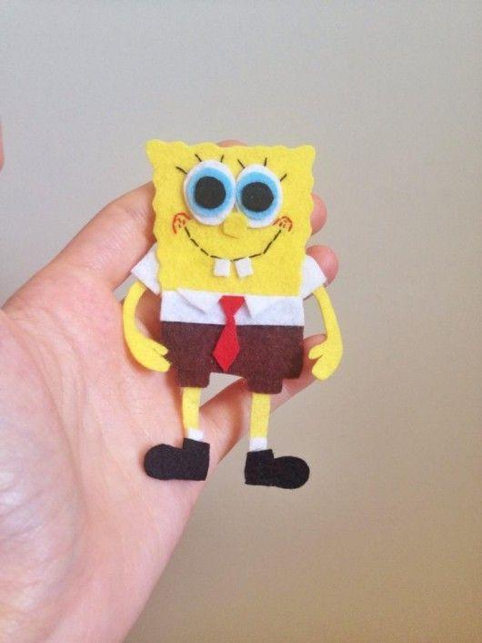 keçe Sünger Bob sponge bob felt craft handmade