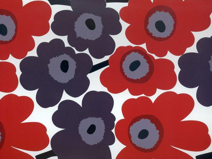Unikko [Poppy] Model pentru material textile, 1965. design: Maija lsola