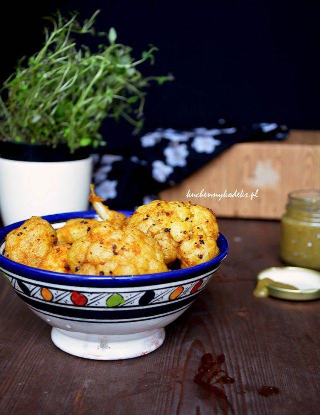 Pakory with cauliflower sauce pear - ginger