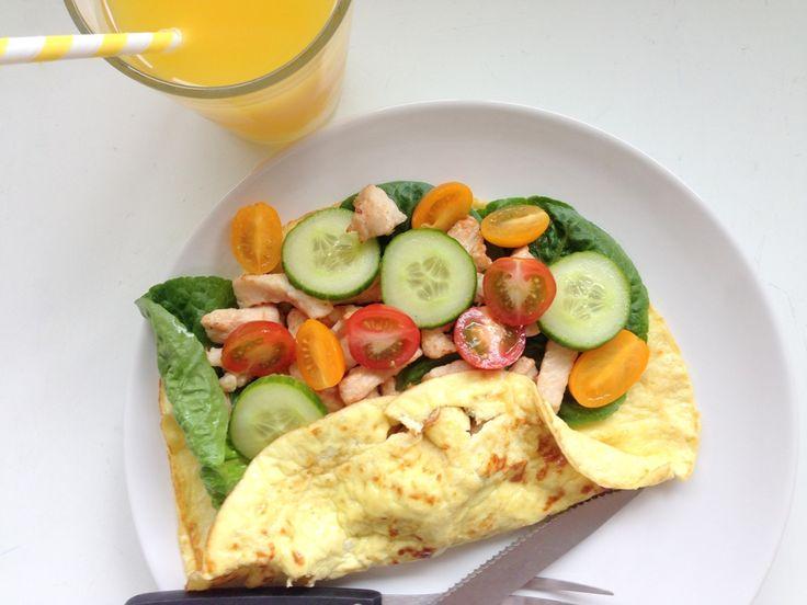 Æggewrap. Et nemt og low carb måltid som både kan spises til morgen, frokost eller aftensmad. Nemt at variere og hurtigt at forberede.