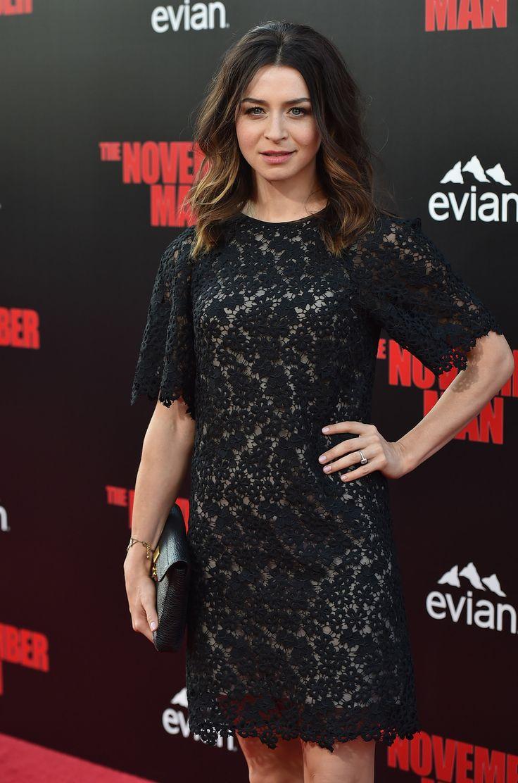 Grey's Anatomy's Caterina Scorsone Scorches at The November Man Premiere (PHOTOS)