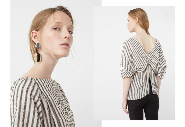 Back slits blouse