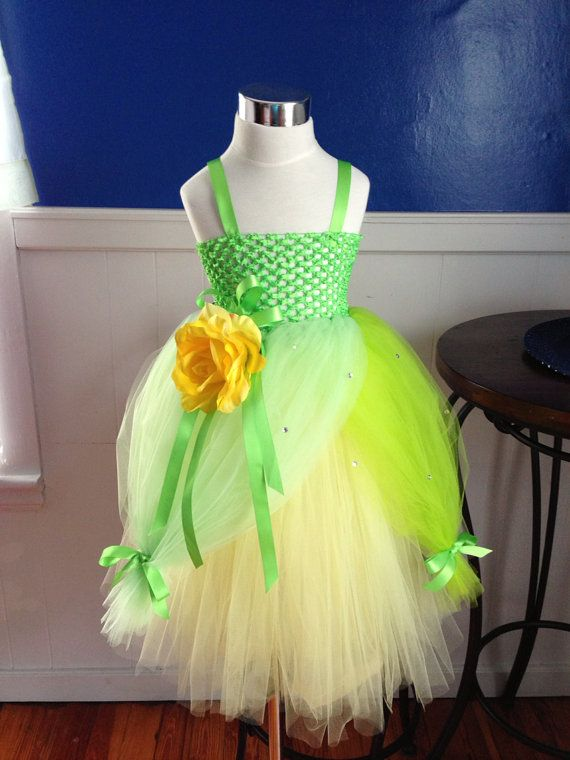 Princess Tiana Dress by Arribelle on Etsy, $45.00