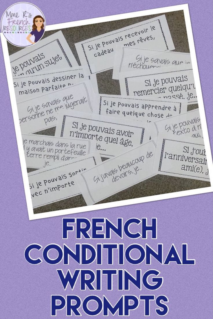 french conditional writing prompts sujets d 39 criture pour le conditionnel french high school. Black Bedroom Furniture Sets. Home Design Ideas