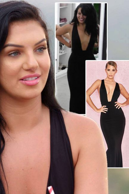 52fcafeedeca Alexandra Cane Love Island dress  ITV2 contestant stuns in plunging black  gown for date with Dr Alex George heres where you can steal the exact look  ...