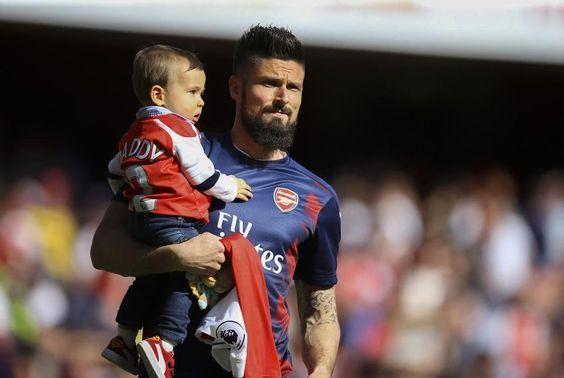 Olivier Giroud   #evangiroud #Arsenal #familytime #WeAreTheArsenal  #COYG  #PremierLeague >>May 21, 2017