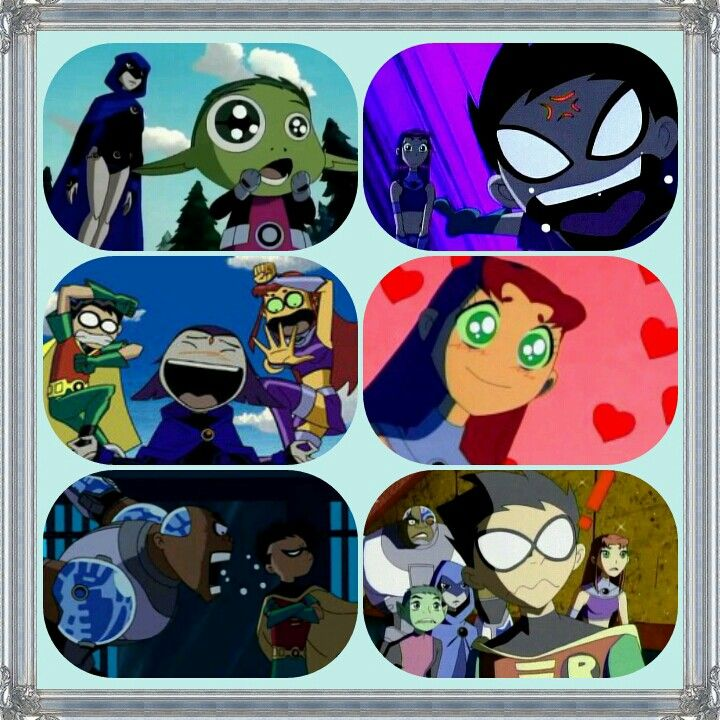 I love their emotions and how they show it!! Beastboy is fasinated, Robin is freaking out, Ravin is laughing, Starfire is in love, Cyborg is mad, and in the last pick the whole group is confused!