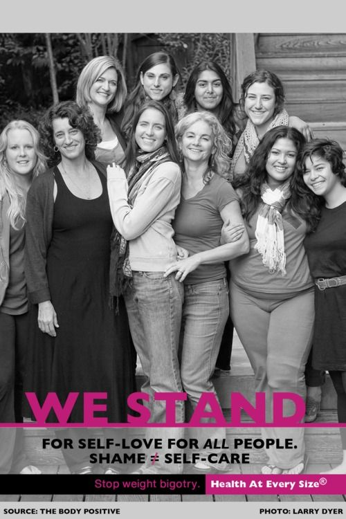 The Body Positive Team.  SHAME DOES NOT EQUAL SELF CARE.  Don't buy into the bigotry that says you must suspend inner peace, love and joy until you reach a certain size, health level or weight.: Http Www Thebodypositive Org, Body Shams, Suspenders Inner, Positive Team, Health Levels, Inner Peace, Self Care, Body Positive, Body Positivity Self Accepted