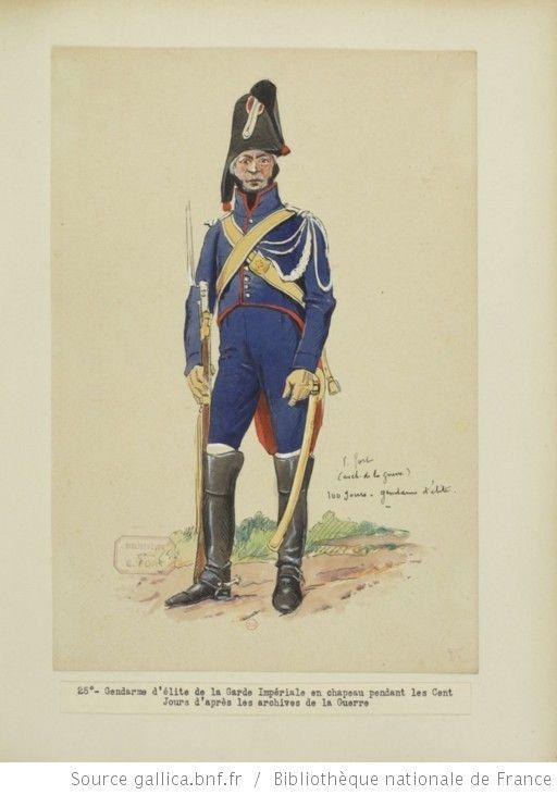 [Grenadiers-gendarmes, gendarmerie d'élite de la garde des consuls et de la garde impériale, 1793-1815 / Notes et aquarelles par E. Fort.] - 39