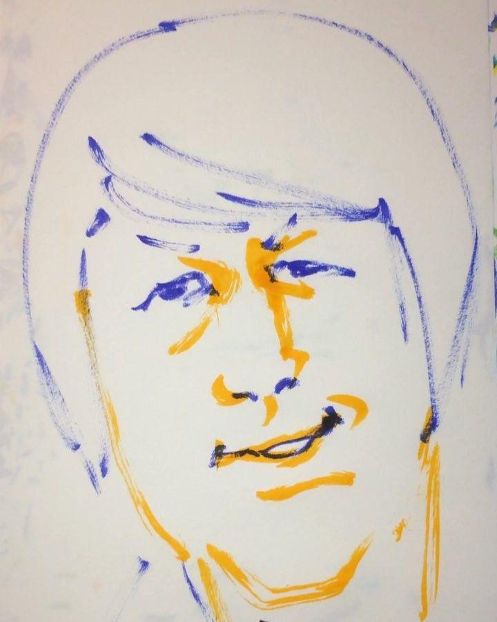 1mindrawさんはInstagramを利用しています:「#1mindraw #brianwilson #ブライアンウィルソン #thebeachboys #19420620 #birthday #誕生日 #portrait #筆ペン画」