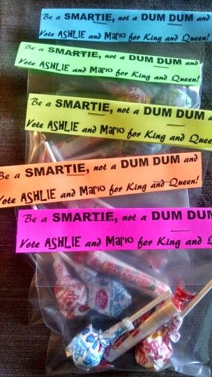 """""""Vote Grace Maynee for queen!!! And make sure you buy my gum- samples included!"""""""