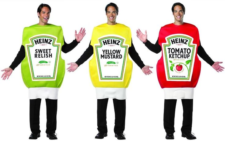 Heinz - Ketchup,Mustard,Relish Adult Group Costume Set - One Size ...