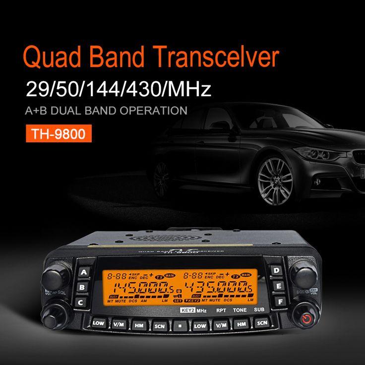 Tyt th-9800 mobil telsiz araç radyo İstasyonu quad band cb radyo Çapraz Band 50 W Uzun Mesafe Araba Walkie Talkie Jambon radyo