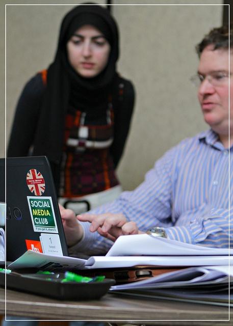 Social media training in Dubai - March 2012.