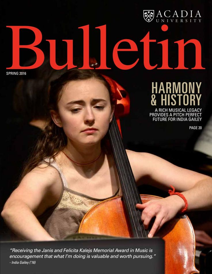 Read the digital version of the #AcadiaU Bulletin, our alumni magazine!