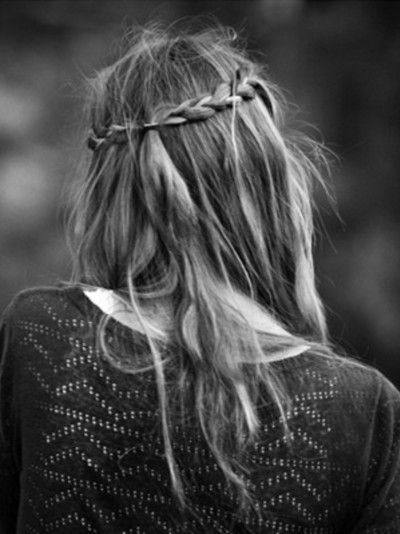 Messy Braided Half-Updo Hairstyle