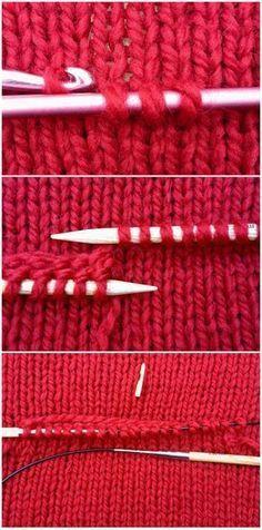 Tricô: bolso invisível / secreto bolso DIY - Closeupfactory, blog de Alfafa