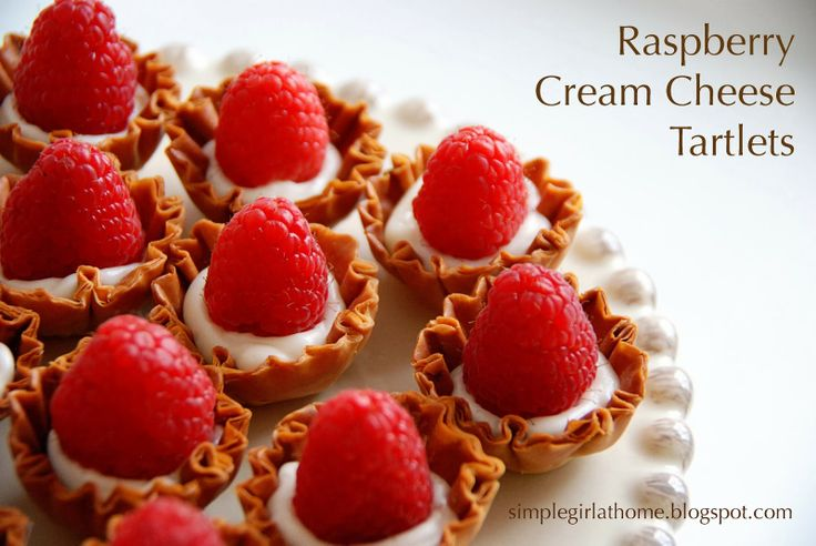 Raspberry Cream Cheese Heart Tarts Recipe — Dishmaps