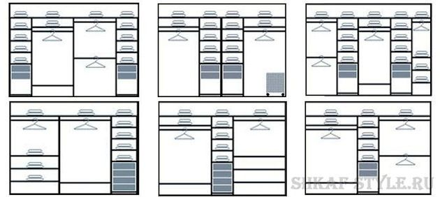 Схема организации шкафа-купе