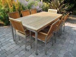 tavolo teak e alluminio