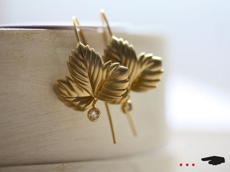 ☛ Ohrringe Blatt von kaestner design … ☚      auf DaWanda.com