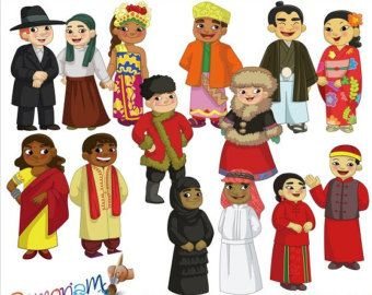 Children of the World by RamonaMClipArt on Etsy
