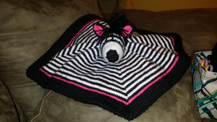zebra lovey - Knitting creation by Genevareclaimed   Knit.Community