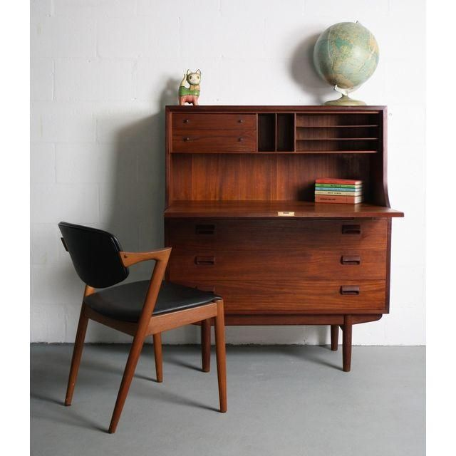 Image of 1960s Danish Modern Teak Secretary Desk