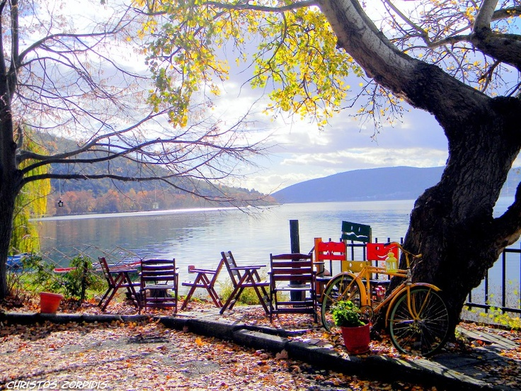 Enjoying a sunny winter morning by the lake of Kastoria  #exploreGreece_hellenicdutyfree