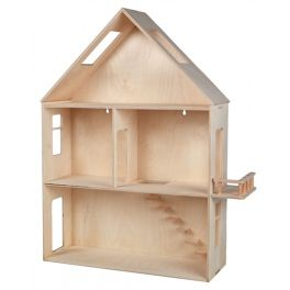 Modern, made of wood hanging house for self-assembly.There is a possibility to paint the house with paints.