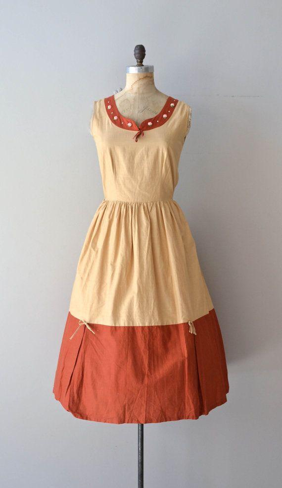 AnnaHelsa dress vintage 1950s dress cotton 50s day by DearGolden
