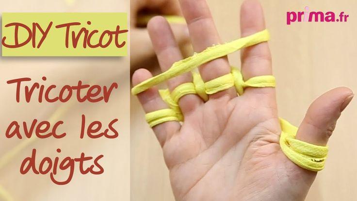 Pour tricoter avec les doigts on peut aussi utiliser de la laine.