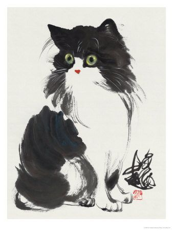 Cat - With Concern - By Wu Yanpei, China.