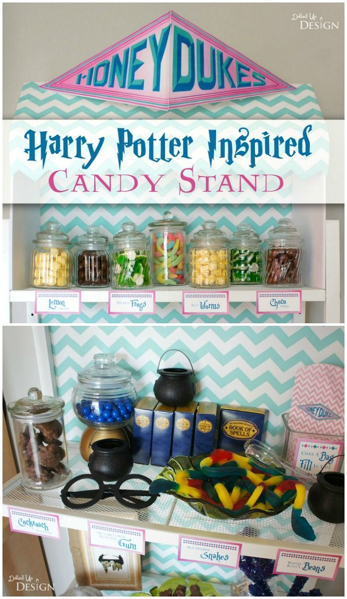 This Honeydukes Harry Potter Candy Buffet is filled with creative ideas that Harry Potter fans will love! A candy bar is always a fun idea for party favors.