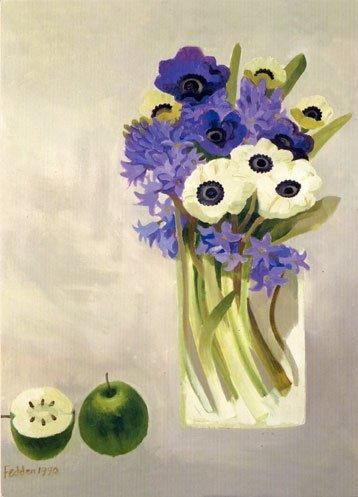 'Hyacinths and Anemones' by Mary Fedden (B031d)