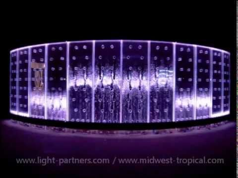 Design with light how to light custom bubble wall water walls with led lighting effects