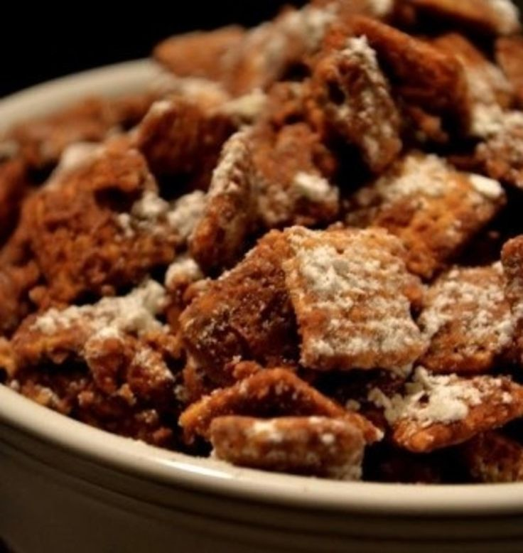 Puppy Chow Chex Mix.